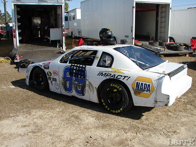 the #99 of Dylan Sawyer has NAPA for a sponsor
