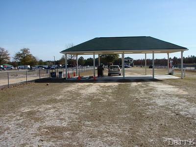 a race car inspection station