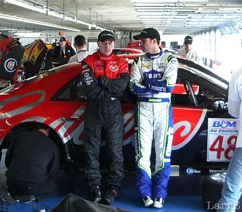 Two Cadillac drivers Andy Pilgrim and Jimmy Johnson.