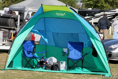 Sports car racing has a lot to do with camping