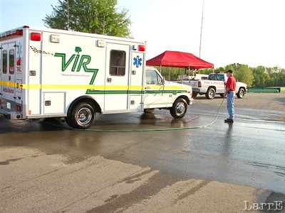 You always want a clean ambulance. Especialy when the motorcyles are racing.