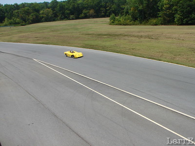 Out of corner 17a past the pit entrance.