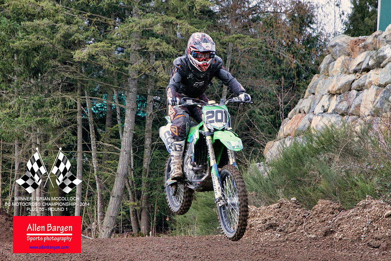 Congratulations to #201-Brian_Mccolloch for his win at the BC Motocross 2014 - Championship races, in the Plus 50 round 1 event.
