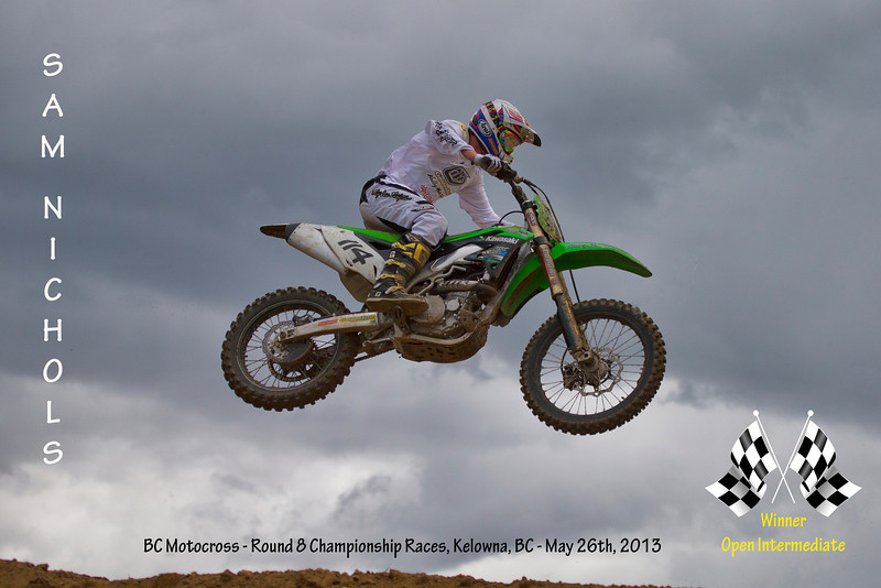 Congratulations to Sam Nichols, Winner of both Open Intermediate races last Sunday at the BC Motocross Championship Race weekend in Kelowna, BC<br /> <br /> Filename - 114-Sam Nichols-02P6450