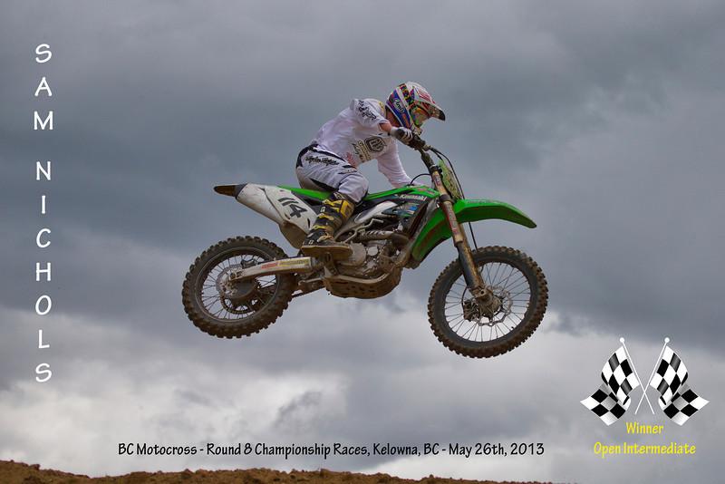 Congratulations to Sam Nichols, Winner of both Open Intermediate races last Sunday at the BC Motocross Championship Race weekend in Kelowna, BC<br /> <br /> Filename - 114-Sam Nichols-02P6450