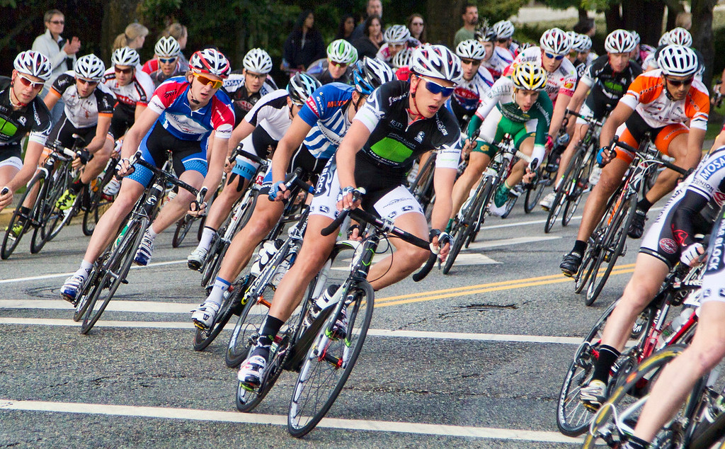 Scenes from the Men's Criterium race at Tour de Delta. July 2011
