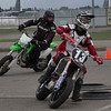 # 13, Dylan Ferreira at turn 1 at the BC Supermoto Season opening weekend.