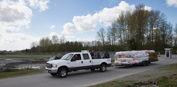 The Setup crew arrives with Bales and course markers for the BC Supermoto 2013 Season operner weekend