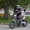 #990 - Devin Arthur waits to bring newcomers onto the track for the first session at Tradex in Abbotsford BC.
