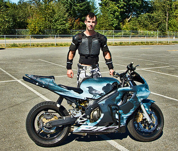 Steven James Carey - Stunt Rider with his ride... cool Do..
