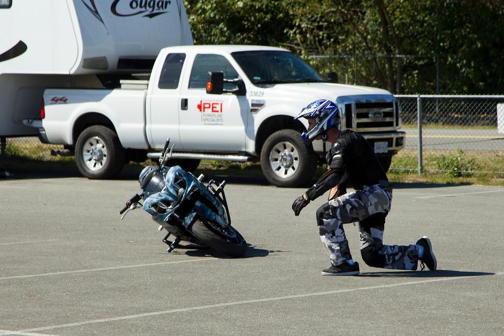 Steve's ok, bike seems to be...