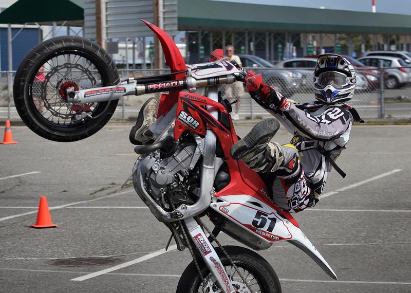 # 51 - Cole Frederickson pops a wheelie