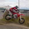 58 - Ryan Thomas jumps into a tight turn at the BC Supermoto races.