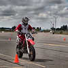 # 58 - Zoltan Gyulasi heads for turn 1, BC Supermoto Round 2 races.