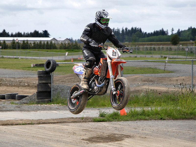 Jason flies out of the dirt section