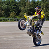 33-John takes a victory lap on one wheel in the Open Pro class race - July 24th, 2011