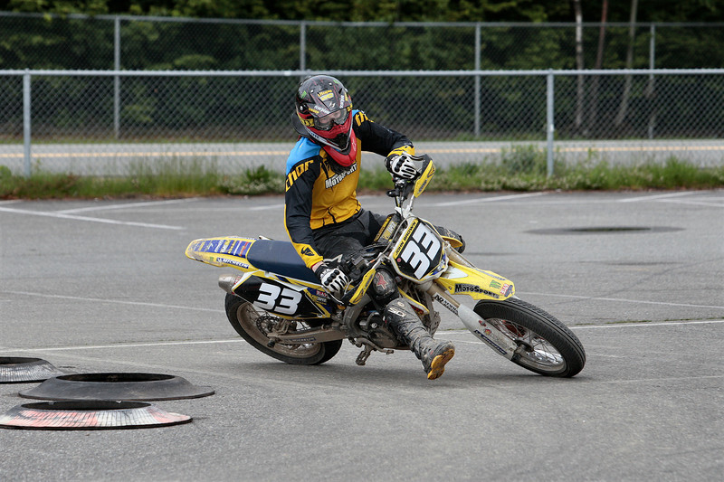 # 33 - John Takes 3rd place in the Open Pro class and 2nd place in the SM Lites Class at the BCSupermoto races on May 22nd, 2011