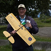 Bruce Duncan from the Vancouver Gas Model club, holding a Spitfire, bulit in 2011.