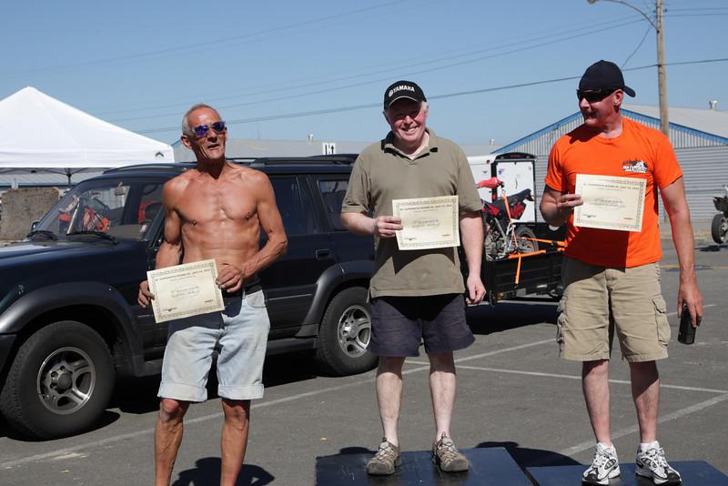 Vet +40 - 1st - Murray Newman, 2nd - Gordon MacDonald, 3rd-Martin Conrad-5F-6462