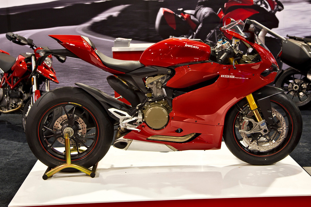 The Ducati - shot at the 2012 Vancouver Motorcycle Show. Now that's a ride!