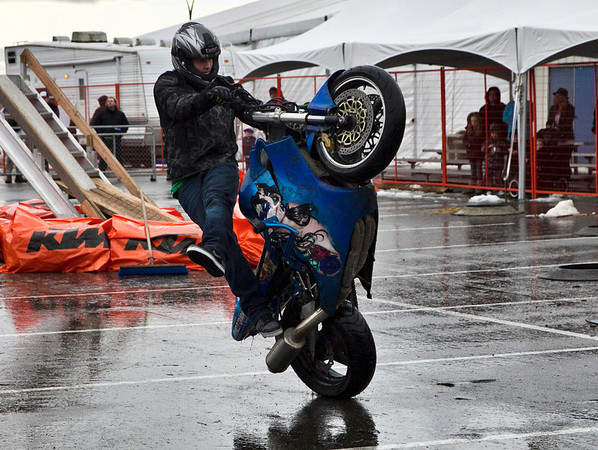 Westcoast Freestyle Stunt riders, Vancouver Motorcycle Show, 2012