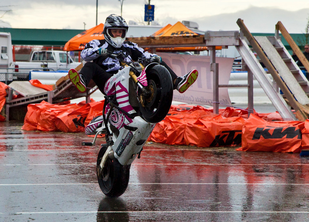 This is Matty - I think he's a little crazy, but he stunts like the pro he is. Vancouver 2012 Motorcycle Show