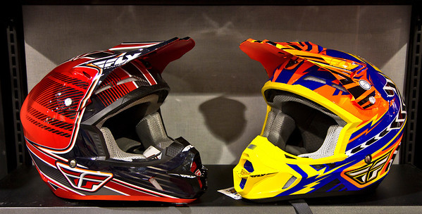Two new Helmets caught talking to each other about the bike girls, at the Vancouver 2012 Motorcycle show