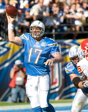 Nov 29, 2009; San Diego, CA USA; San Diego Chargers quarterback Phillip Rivers (17 - the San Diego Chargers defeated the Kansas City Chiefs 43-14.