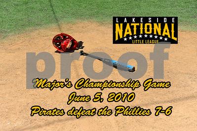 Major Championship Game - Pirates