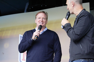 Roger  Goodell - Commissioner of the National Football League (NFL) speaks at the NFL International Series match between Indianapolis Colts and Jacksonville Jaguars at Wembley Stadium on October 2, 2016