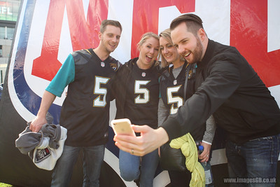 Fans at NFL International Series match between Indianapolis Colts and Jacksonville Jaguars at Wembley Stadium on October 2, 2016
