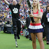 NFL Party Patrol entertain the crowd during the NFL International Series match between Indianapolis Colts and Jacksonville Jaguars at Wembley Stadium on October 2, 2016