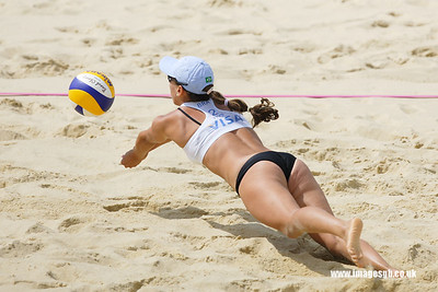 London - 13 Aug 2011 – Talina Lima of Brazil during the game against the Cook / Hinchley (Australia)