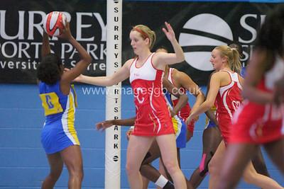 Sara Bayman   during England v Barbados @ Surrey Sports Park - April 2012