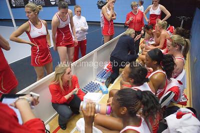 Anna Mayes (Head Coach) during England v Barbados @ Surrey Sports Park - April 2012