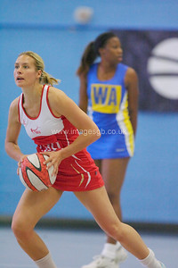 Tamsin Greenway   during England v Barbados @ Surrey Sports Park - April 2012