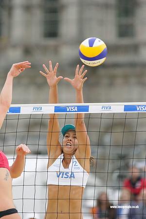 London - 13 Aug 2011 – Liliane Maestrini (Brazil) during game against Mulin/Dampney (Great Britain)