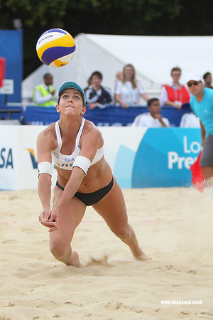 London - 13 Aug 2011 – Angela Vieira (Brazil) during game against Mulin/Dampney (Great Britain)