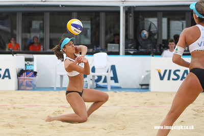 London - 13 Aug 2011 – Liliane Maestrini (Brazil) during game against Mulin/Dampney (Great Britain)