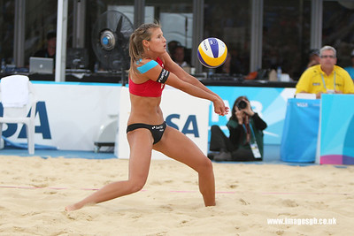 London - 13 Aug 2011 – Zara Dampney during game against Vieira/Maestrini (Brazil)