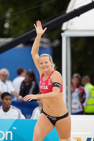 London - 13 Aug 2011 – Shauna Mullin during game against Vieira/Maestrini (Brazil)