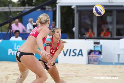 London - 13 Aug 2011 – Zara Dampney during game against Vieira/Maestrini (Brazil)