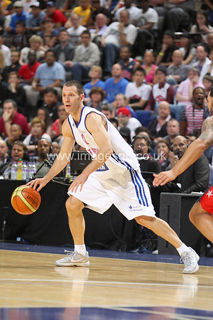 Nate Reinking during GB v USA Basketball in Manchester – July 2012