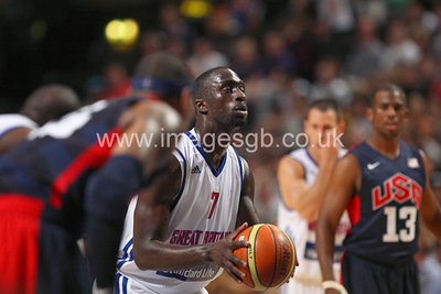 Pops Mensah Bonsu during GB v USA Basketball in Manchester – July 2012