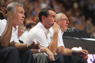 Mike Krzyzewski during GB v USA Basketball in Manchester – July 2012