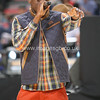"Labrinth (Timothy McKenzie) performs his hit  ""Earthquake"" at half time"