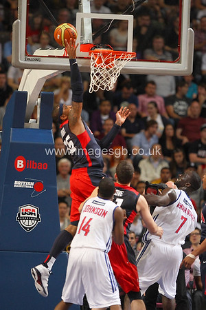 Anthony, Carmelo during GB v USA Basketball in Manchester – July 2012