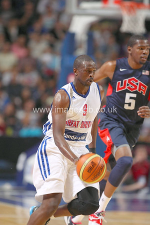 Loul Deng during GB v USA Basketball in Manchester – July 2012