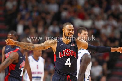 Chandler, Tyson during GB v USA Basketball in Manchester – July 2012