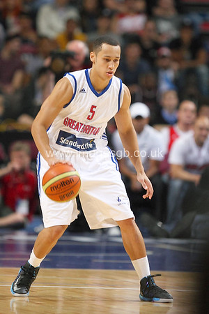 Andrew Lawrence during GB v USA Basketball in Manchester – July 2012